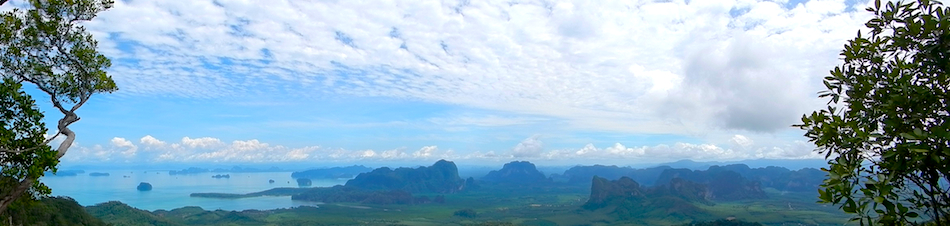 The mountains in Thailand have some excellent technical trails. This is the view from the top of Ngorn Nak mountain in Tub Kaek, Krabi province, in Southern Thailand.