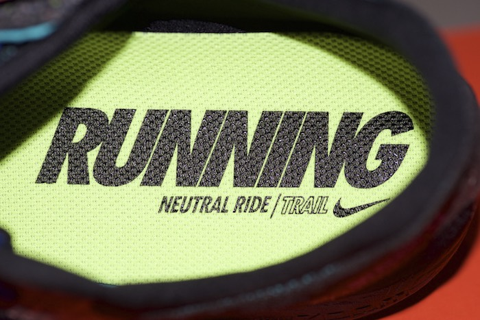 Shoe insert for Nike Zoom Terra Kiger V2 trail running shoes. It says, Running, Neutral Ride / Trail.