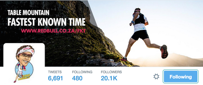 One of the world's top ultra-runners on Twitter, Ryan Sandes.