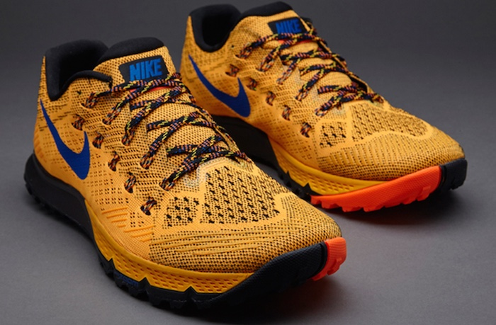 Nike Zoom Terra Kiger 3 Orange / Game Royal color scheme.